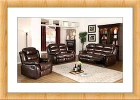 New burgundy recliner and loveseat