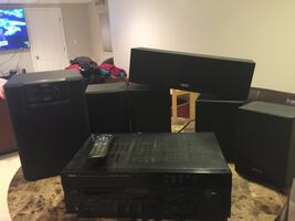 Home Theater System with Speakers and Audio Receiver
