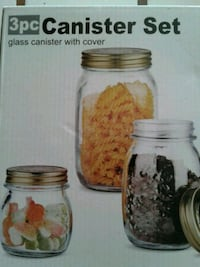 3 pc glass canister set with cover  Las Vegas, 89107