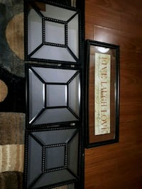 Wall decor set ( 3 mirrors )