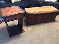 Bench and End Table Set Dumfries, 22026