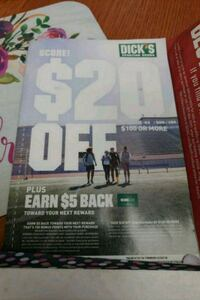 Dick's Sporting Good coupon 20 off 100 Chicago, 60631