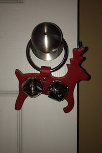 NEW Christmas reindeer bell door decor