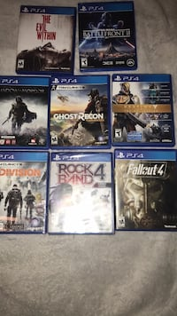eight assorted PS4 game cases Bakersfield, 93308