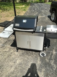 black Weber stainless steel gas grill Trumbull, 06611