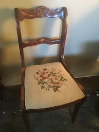 brown wooden framed white and red floral padded chair Albany, 12207