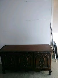 brown wooden 2-door cabinet 28 mi
