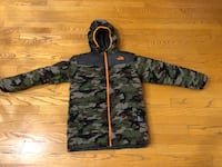 North Face black and gray camouflage zip-up hoodie jacket size 14/16 Highlands Ranch, 80130