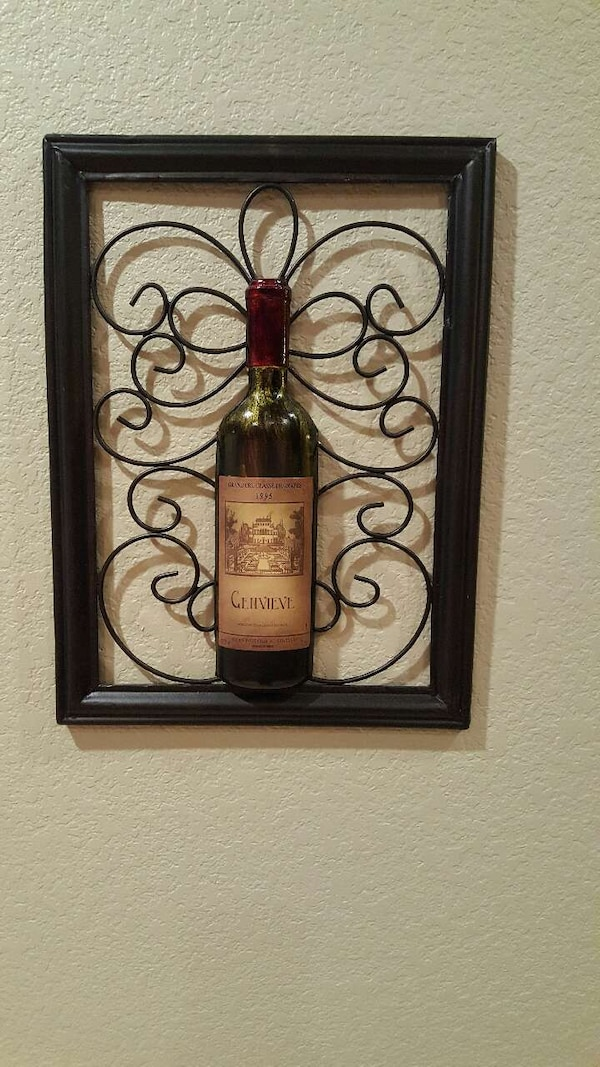 Used Metal Wine Bottle Wall Decorpicture For Sale In Fort Worth
