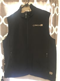 Black Cinch zip up vest Brownsville, 78526