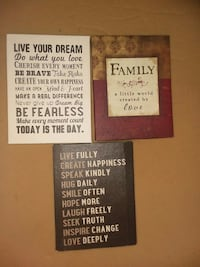 three assorted-color quote board decors Raceland, 70394