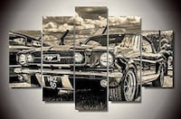 Classic Ford Mustang Canvas (Framed) Lindell Beach