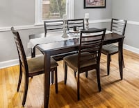 dinning room table set and buffet