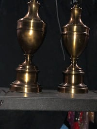 two brass-colored lamps KANNAPOLIS