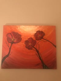 Poppies Art on canvas oil painting