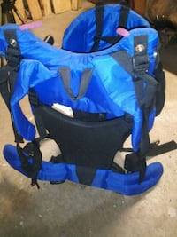 Black and Blue baby carrying hiking backpack Knoxville