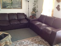 purple fabric sofa set with throw pillows New Westminster, V3M 3Z4