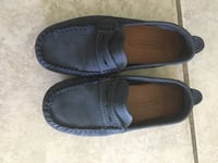 Zara Navy boys loafers size 12
