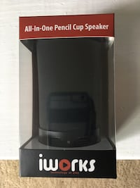 New Iworks All-In-1Pencil Cup Speaker USB charger Speakers Pen holder