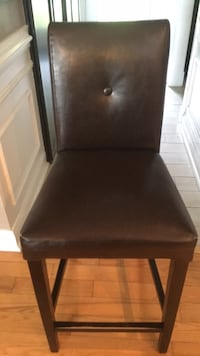 black leather padded parson chair Stafford, 22556