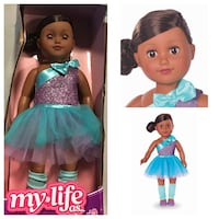 """My Life As 18"""" Poseable Ballerina Doll, African American Stafford, 77477"""