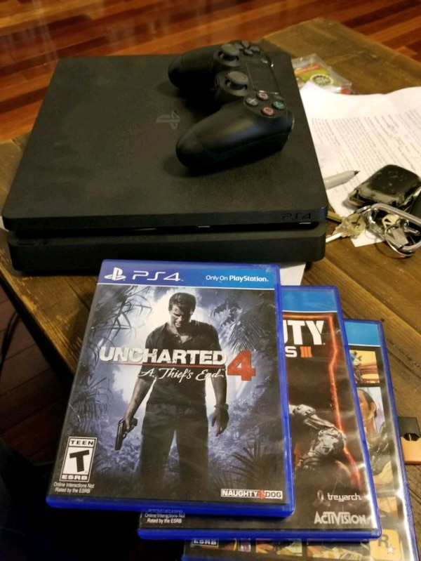 Ps4 with 3 games one controller