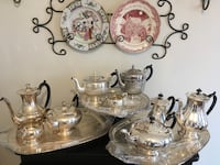 Four antique tea sets