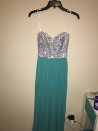 Teal and sequined strapless dress Gulfport, 39503