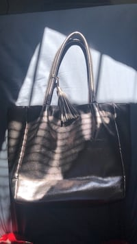 black and white leather tote bag Westland, 48185