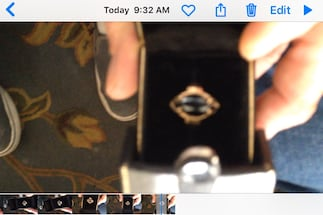 Real stone and Gold ladies ring