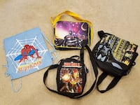 Superhero bags (Batman, Spider-man, Ironman) Springfield