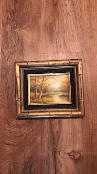 brown wooden framed painting of brown wooden house New Iberia, 70560