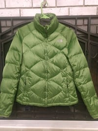 The North Face green zip-up winter jacket 312 mi
