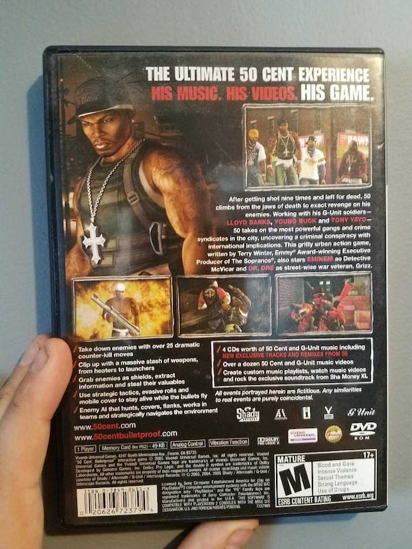 Used 50 Cent Bulletproof Ps2 Game For Sale In Manchester Letgo