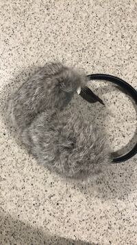 Daniel leather earmuffs real fur  Vancouver, V5X 1X6
