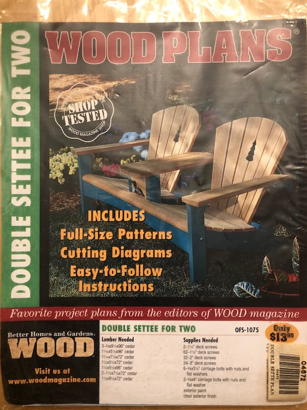 Wood plan for Settee Chair 8f42755e-7382-46e4-9db0-60478822da2c