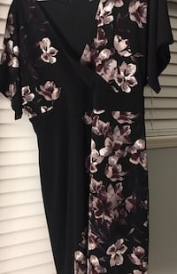 La Chateau Black dress with baby pink cherry blossom flowers Maple Ridge, V4R 2W6