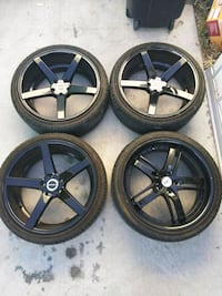Four 20in. Black Rims with tires Las Vegas