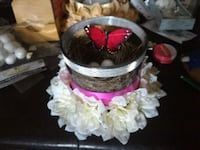 Bri's Creations Satin floral glass centerpiece  Belleville, K8P 2B5