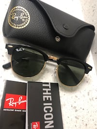 RAYBANS Polarized Clubmasters Used Sterling