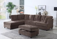 Brown suede sectional sofa with ottoman San Leandro, 94577