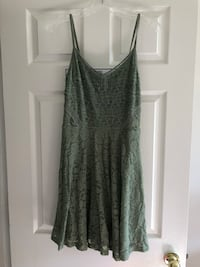 Green, lacey sundress