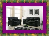 Black bonded sofa and loveseat free delivery Falls Church, 22041