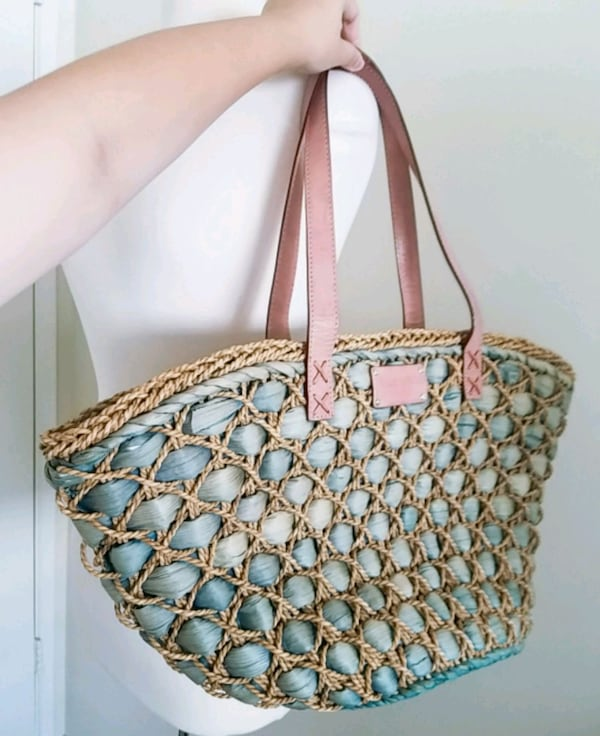 Kate spade large straw tote bag c4380467-945a-4190-9488-9141dcf28d0d