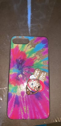 Hot pink, green, and blue tie-dyed iphone case Bowling Green, 42101