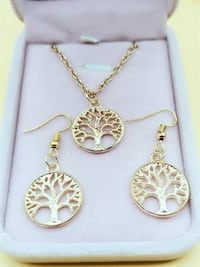 Gold Tree of Life Earrings & Necklace! Brand new Set!  Regina, S4X 3B6