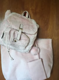 Matching Pink Fur Tote and Backpack La Habra Heights