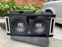 "12"" subs with 2 Amplifiers and a high-performance capacitor"