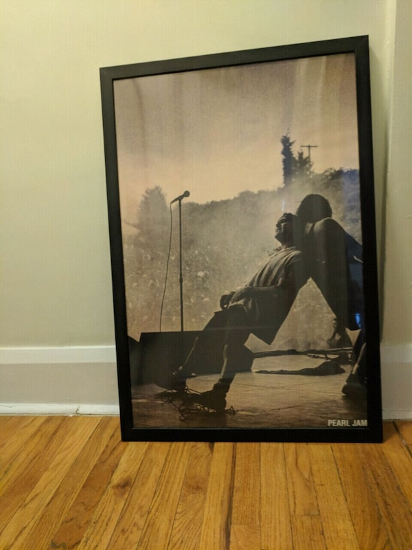 Used Pearl Jam Poster Frame Not Included For Sale In Toronto Letgo