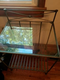 Heavy glass and wrought iron table Stockbridge, 30281